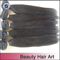 Indian Hair Straight Natural Black 1b Top Quality Indian Virgin Hair Extension 4pcs lot Silky Straight Hair Softest and Smoothest Natural Color Can Be Dyed And Bleached