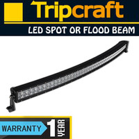 Wholesale 50inch x W LM W CREE LED work light bar TRUCK CAR X4 MARINE JEEP boat curved led light bar