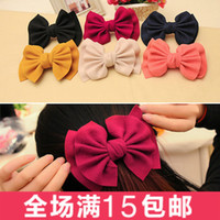 Barrettes & Clips Top clip TYC 3350 3348 3347 black 3349 beige 3346 3345 Korean version of the fall and winter woolen oversized bow hair accessories hairpin clip the top edge of the spring clip hair clip