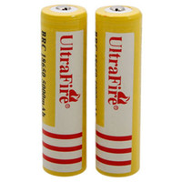 Wholesale Ultra Fire V mAH Lithium Rechargeable Battery Yellow UltraFire BRC Li Ion batteries