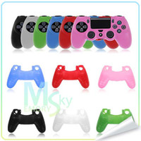PS4   Best quality New Soft Silicone Protective Sleeve Case Skin Cover for PlayStation 4 PS4 Controller factory supplier 002093