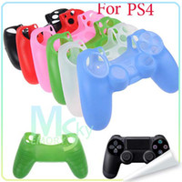 PS4 Protective Case  Colorful Soft Silicone Protective Sleever Case Cover Skin for Playstation 4 PS4 Free shipping 002093