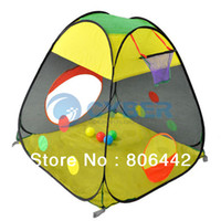 Tents Animes & Cartoons Cloth Cheap Lovely Baby Kids Tent Hollow Basketball Frame Colorful Children's Toys Tents Play House Free Shipping 10362
