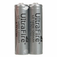 Wholesale UltraFire AA V mAh Lithium Rechargeable Battery V Li ion Batteries For SK68 torch