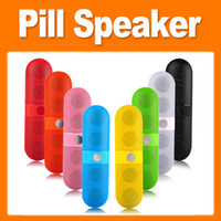 Wholesale Wireless Portable Pill Speaker Lightweight Bluetooth supporting HFP and A2DP with SBC Audio Big Sound colorful