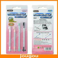 Wholesale Retractable Metallic Stylus Touch Pen For Nintendo DSi NDSi set Package sets