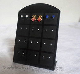 Promotion Jewelry Display 10 pcs set Plastic Stud Earring Stand Hooks Holder Acrylic 36 Pairs Earring Rack