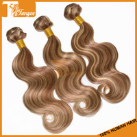Brazilian Hair Body Wave 16 18 20 22 24 26 inches in stock 5A Virgin Brazilian Hair Extensions 4pcs Lot Cheap Hair Products 100% Remy Human Hair Weave Ombre Two Tone Color #8 613 DHL Free Shipping