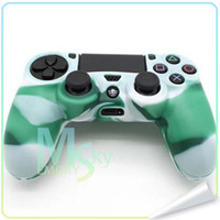 PS4 Protective Case  Colorful high quality Silicone Camouflage Skin Case Cover for Sony PS4 PlayStation 4 Controller 002094