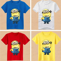 Unisex Spring / Autumn Standard 2014 Children's despicable me t shirt Allie&Bell tshirts kids tees 5 colors 2-7Y