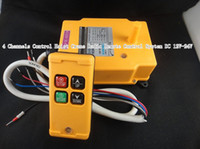 Cheap 4 channels control hoist crane radio remote control system industrial remote control hoist crane push button switch DC 12V-24V