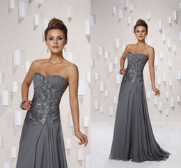 New Arrival Lace Applique Strapless Sweetheart Sleeveless Front Applique Floor Length Ruffle Chiffon Celebrity Dress And Formal Dress