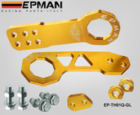 Guangdong China (Mainland) anodized aluminum color - EPMAN car Anodized Billet Aluminum Front Rear Tow Hook Kit for universal car EP TH01Q GL Default Color is Golden
