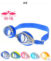 Wholesale waterproof anti fog swimming goggles child quality swimming glasses