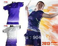clothing china - 2014 LI NING Clothes CHINA OPEN Jersey women Badminton Tennis Shirt shorts Free