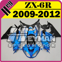 Wholesale Heymanspeedmotor Injection Mold Fairing For Kawasaki ZX R ZX6R ZX R Blue Black K69H13 Free Gifts