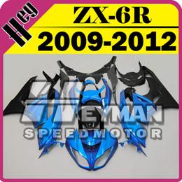 Wholesale Heymanspeedmotor Injection Mold Fairing For Kawasaki ZX R ZX6R ZX R Blue Black K69H13 Free Gifts