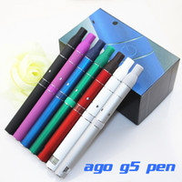 Ago G5 pen dry herb vaporizer herbal Top quality ago G5 dry herb vaporizer pen vapor cigarettes kits dry herb atomizer LCD Display Ago G5 pen E Cigarette wax herbal vaporizer