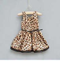 New Fashion girls leopard warm dress children sleeveless pri...