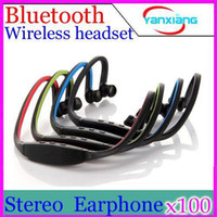 Wholesale DHL Super quality Sports stereo Wireless Bluetooth Headset Headphone Earphone for cellphone mobile phone YX ER