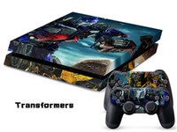 Wholesale INBOX PS4 Console Designer Skin for Sony PlayStation System plus Two Decals for PS4 Controller Transformers