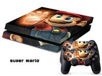 Wholesale INBOX PS4 Console Designer Skin for Sony PlayStation System plus Two Decals for PS4 Controller Super Mario