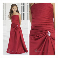 Wholesale Hot Sale Pleat paghetti Strap Sheath Bridesmaid Dresses for Wedding Party Formal Junior Gowns Flower Girl Dresses E307