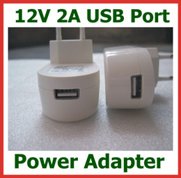 New EU Plug 12V 2A   2000mA USB Charger for Tablet PC Power Adapter USB Wall Charger Universal Power Supply