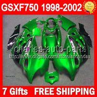 Green black 7gifts& Fairings 98- 02 GSXF750 For SUZUKI KAT...