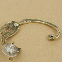 Wholesale Vintage Cat Ear Clip Women Earrings Punk Rock Ear Cuffs Golden Silver Fashion Jewelry