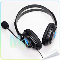 PS4   New fashion Black Blue Wired Gaming Headset Headphones with Microphone for Sony PS4 PlayStation 4 002096