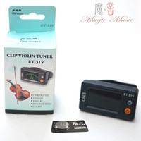 tone tuner Universal tone tuner ENO Chromatic clip violin tone tuner ET-31V for violin viola cello double bass. violin tools accessory wholesale
