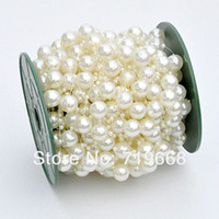 Bouquet craft candle - NEW STYLE IN STOCK meters MM MM pearl beads wedding garland centerpiece flower table candle decoration DIY crafting