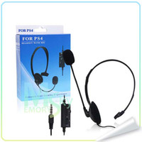 Wholesale 2014 hot sale Single side Broadcaster Wired Gaming Headset Earphone Headphone for Sony PlayStation PS4