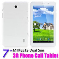 Wholesale Dual Sim inch G Android Dual core Phablet MTK8312 GHz Tablet PC Bluetooth GPS WiFi Auto focus PB