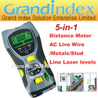 Wholesale multifunction gauge SK109A Distance Meter AC Live Wire Metals Stud Detector Line Laser Levels in