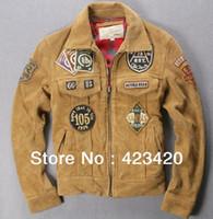A2014 100%original Men's genuine Leather Jacket ,Air Force clothing,motorcycles JACKET,M-2XL AVIREX jacket black Free Shipping
