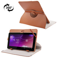 Wholesale Universal Degree Rotation Litchi Flip Stand PU Leather Case Cover for quot quot quot quot quot inch Tablet PC MID iPad with Holder