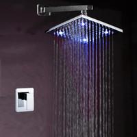 Wholesale shower kit led shower head with single level mixer vavle