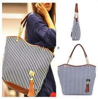 best wholesale handbags - Women Stripe Canvas bag Multicolour stripe bag canvas shoulder bag one shoulder women s handbag shopping bag star bag canvas bag best