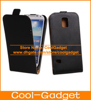 Wholesale Vertical Flip Real Genuine Leather Case Hard Mobile Phone Cover Holster for Samsung Galaxy S5 G900 I9600C07