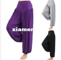 Unisex Polyester Yoga Sets Woman Unique Wide Leg Aqua Yoga Palazzo Gaucho Boho Casual Yoga Lounge Pants Western Muslim Harem 8 Colors Size: M L XL XXL