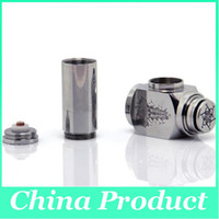 high-end and atmosphere Acrylic Stainless Steel Bag For E-Cigarette New Hammer pipe Kit E cigarette With 2 Extension Tubes Mod Hammer Mechanical Mod Apply to 18650 18350 Battery 50pcs 002086