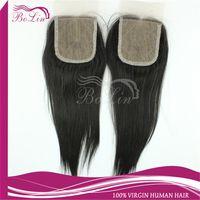 Brazilian Hair Natural Color Straight Fast Shipping Silk Base Closure Middle Part Free Part 5A grade Virgin Brazilian peruvian malaysian Body Wave silk top lace closure 1pcs lot