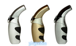 Wholesale 3 PC Ergo Grip Ergonomic Cigarette Cigar Refillable butane Torch Lighter