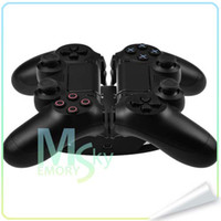 Wholesale Controller Charging Stand Gamepad Holder with usb adapter for PS4 Dual Charger Dock for PS Controllers
