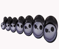 Wholesale CF204 mix size Skull Logo Flesh Tunnel Plugs Ear Fake Piercings Body Jewelry