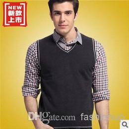 Wholesale 2014 Woollen Men Vest Sweater Knitted Shawl Australian Wool Tank Top Classic AMY11