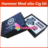 Electronic Cigarette Battery  2014 NEW Hammer pipe Mod Kit E cigarette pipe Mod With 2 Extension Tubes Apply to 18650 18350 Battery for 510 thread eGo cig atomizer 002086
