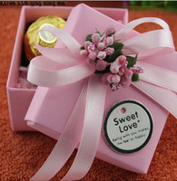 Cheap 2014 Square Favor Holders Wedding And Party Candy Boxes Free Shipping 50Pcs Lot Gift Box